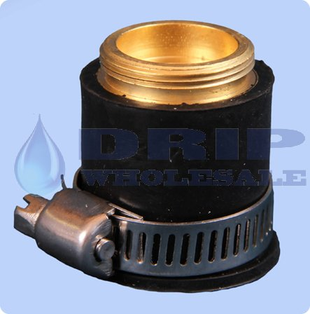 External Rubber Faucet Adapter With Ss Clamp Drip